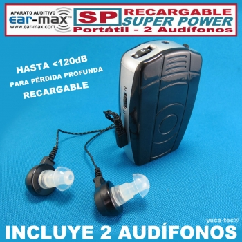 EAR MAX® Aparato Auditivo Recargable Portátil SP - SUPER POWER