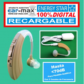 EAR MAX® ENERGY STAR RECARGABLE - Aparato Auditivo 100% DIGITAL