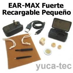 EAR MAX® Fuerte RECARGABLE Pequeño Sordera Aparato Auditivo - Dentro Del Oído