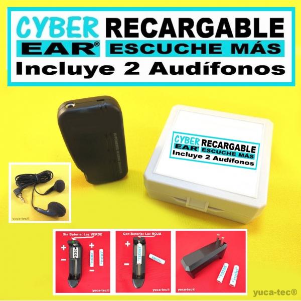 Cyber Ear RECARGABLE / Escuche Más - Amplificador De Sonido -  Aparato Auditivo